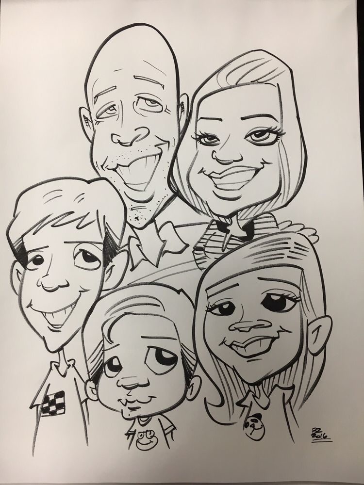 Brian's Caricatures Logo North Fork Chamber Member