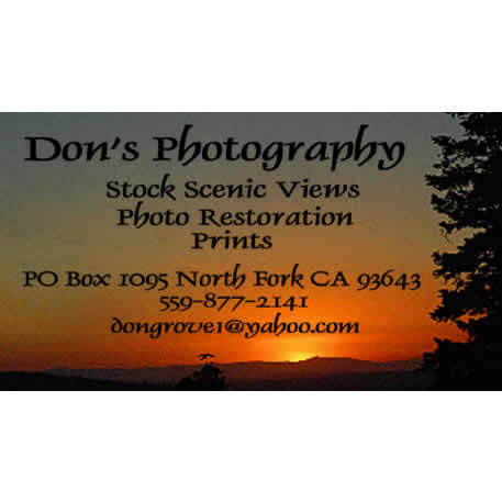 Don's Photography Logo North Fork Chamber Member